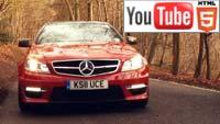 Тест-драйв Mercedes AMG C63 в стерео на YouTube 3D
