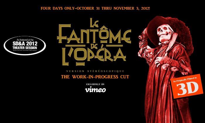 3D-фильм «Призрак оперы» 1924 появился онлайн