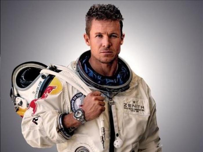 Австрийский парашютист Феликс Баумгартнер (Felix Baumgartner) в проекте Red Bull Stratos