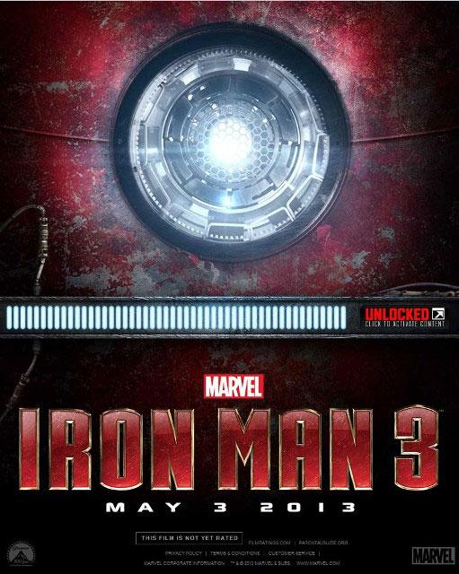Мировая премьера 3D-фильма «Железный человек 3» назначена на 3 мая 2013 года