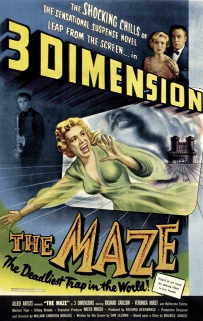 YouTube 3D-трейлер к ужастику «Лабиринт» (The Maze) 1953 года