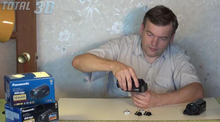 3D-спарка из двух видеокамер Panasonic SD600
