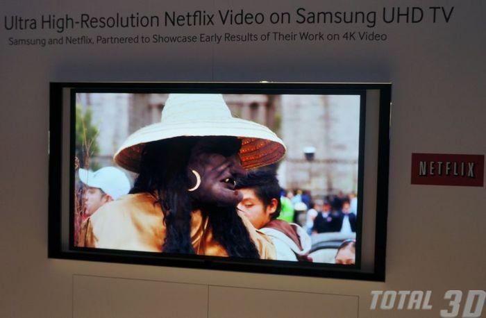 UHD ТВ Samsung на CES 2013