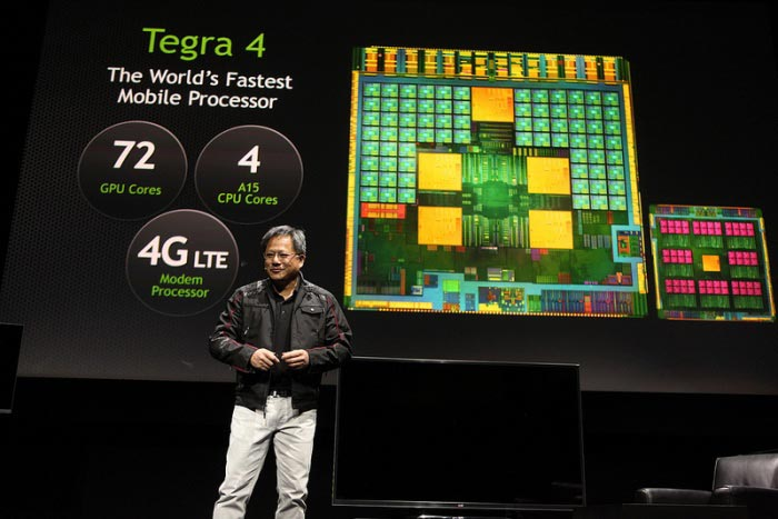CES 2013: глава NVIDIA Джен-Сан Хуанг (Jen-Hsun Huang) представил мобильный процессор Tegra 4 от NVIDIA