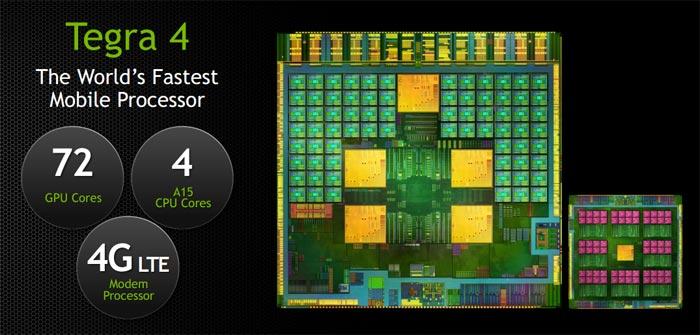 CES 2013: мобильный процессор Tegra 4 от NVIDIA оснащен 72 специальными ядрами NVIDIA GeForce GPU