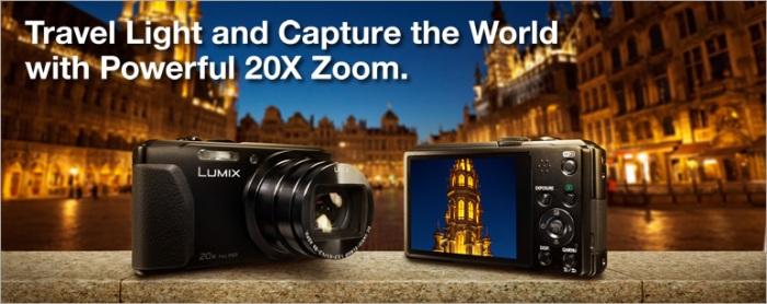 CES 2013: цифровая компактная 3D-камера Panasonic LUMIX DMC-TZ40 с системами навигации GPS и GLONASS