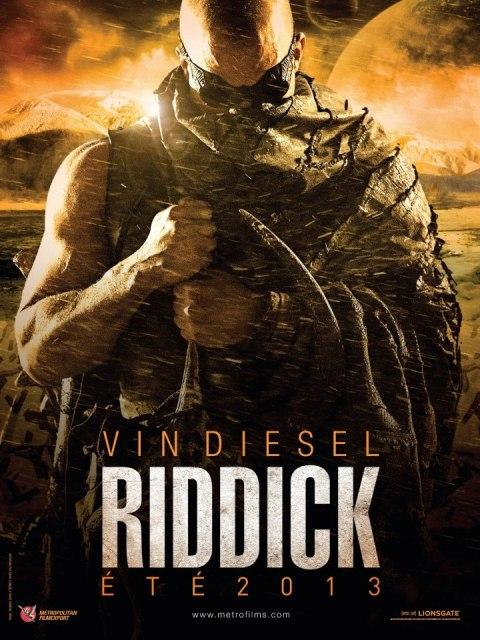 Постер к 3D-боевику «Риддик 3D»
