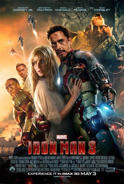 3D-триллер «Железный человек 3» (Iron Man 3): три новых YouTube 3D-трейлера