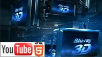 Фильмы на дисках Blu-Ray 3D: интересная стерео-реклама на YouTube 3D