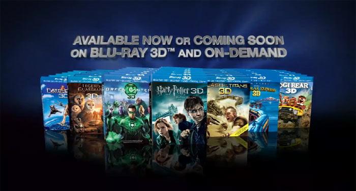 Blu-Ray 3D-диски: стерео реклама на YouTube 3D