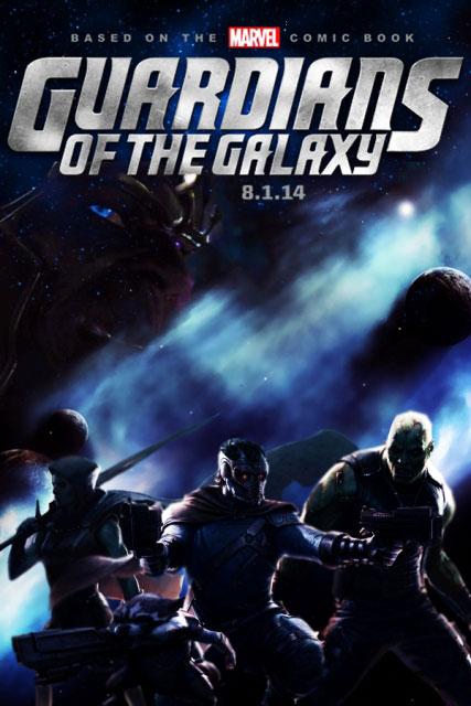 Постер к 3D-боевику «Стражи Галактики»