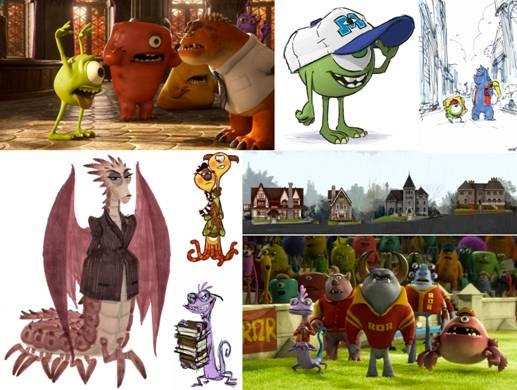 3D-мультфильм «Университет монстров»