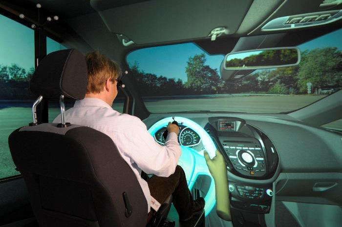 Трёхмерный автомобильный симулятор 3D CAVE (Computer Automated Virtual Environment компании Ford