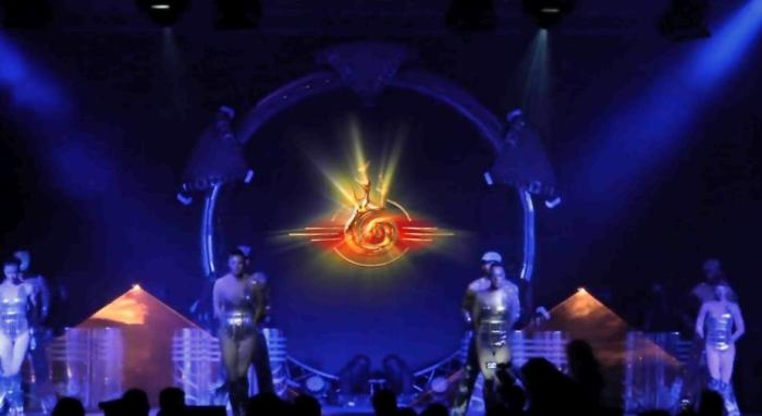 Живое лазерное шоу на YouTube 3D