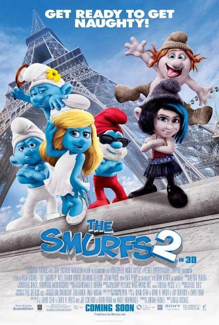 Постер к 3D-мульту «Смурфики 2»