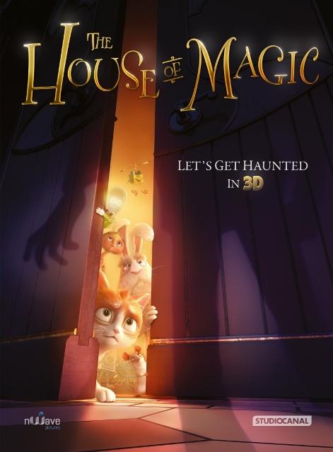 Постер к 3D-мульту «Кот Гром и таинственный дом»