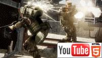 Стерео-геймплей к шутеру Battlefield: Bad Company 2 на YouTube 3D