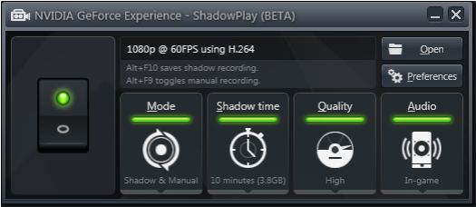 GeForce ShadowPlay: доступна бесплатная бета-версия