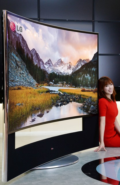 Первый в мире изогнутый Ultra HD 3D-телевизор