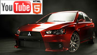 Спортивный седан Mitsubishi Evolution X: стерео-обзор на YouTube 3D
