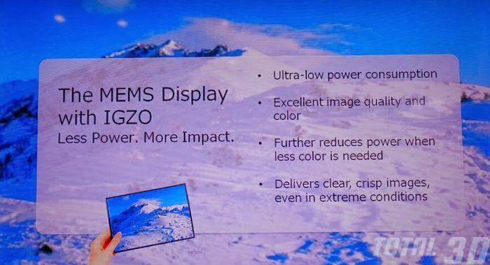 CES 2014: MEMS-дисплеи и другие продукты на стенде компании Sharp