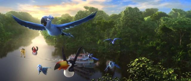 3D-анимация «Рио 2» (Rio 2): новый YouTube стерео 3D-трейлер