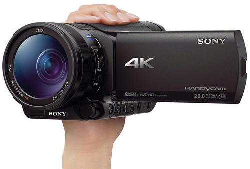 CES 2014: живые фото и полные спецификации 4К-камкордера Sony FDR-AX100