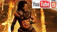 YouTube стерео 3D-трейлер к экшену «Помпеи»