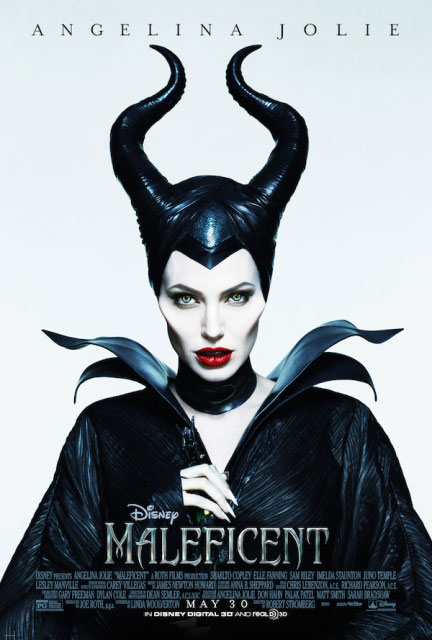 Angelina jolie в образе зловещей колдуньи