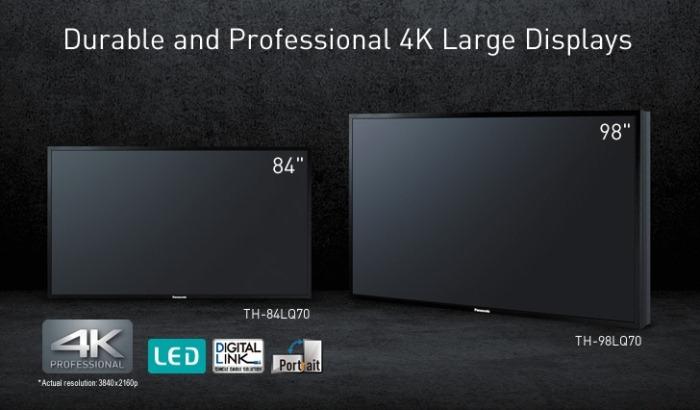 Два новых ЖК-дисплея Panasonic TH-98LQ70 и TH-84LQ70 с поддержкой Ultra HD 4K