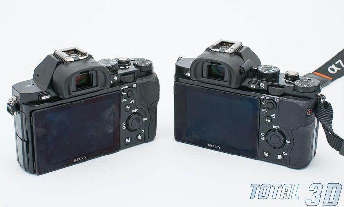 Sony A7 и Sony A7R, вид сзади