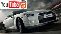 Суперкар Nissan GT-R в трёхмерном обзоре на YouTube 3D