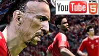 Футбольный симулятор Pro Evolution Soccer 2014: стерео геймплей на YouTube 3D