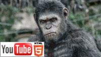 Планета обезьян: Революция 3D: стерео-трейлер на YouTube 3D