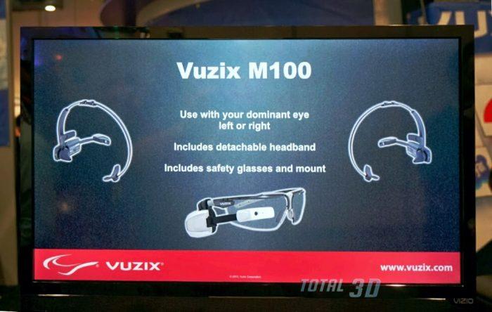 Смарт-очки добавленной реальности Lenovo Vuzix M100