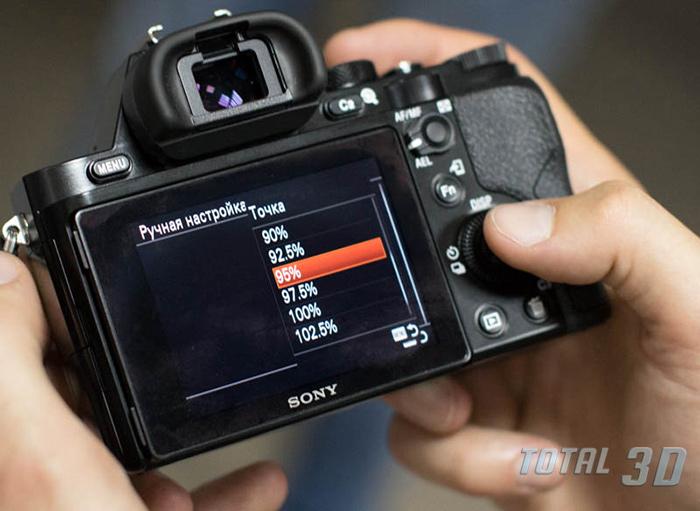Настройки меню Sony A7S