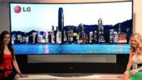 Изогнутый 105-дюймовый 3D-телевизор LG 105UC9 с разрешением 5K: скоро в рознице