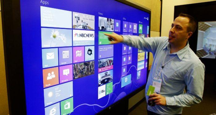 Microsoft готовится к выпуску сенсорных дисплеев