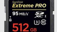 512-Гбайт SDXC карта SanDisk Extreme PRO для 4K/Ultra HD