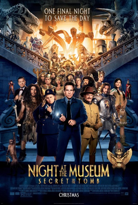 Новые материалы к 3D-комедии «Ночь в музее: Секрет гробницы» (Night at the Museum: Secret of the Tomb)