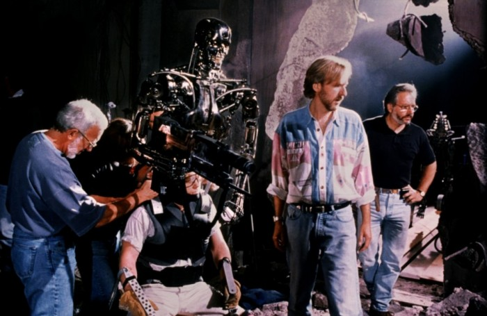 "Джеймс Кэмерон (James Cameron) на съёмках ""Терминатора"" (Terminator)"