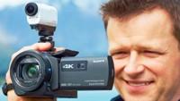 Sony Handycam FDR-AX33: 4K-камера с проектором и стабилизатором B.O.SS