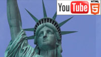 Стерео прогулка по Нью-Йорку на YouTube 3D