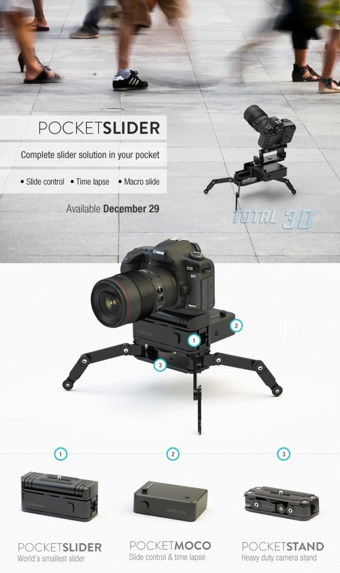 Edelkrone PocketSlider: самый компактный в мире слайдер для DSLR