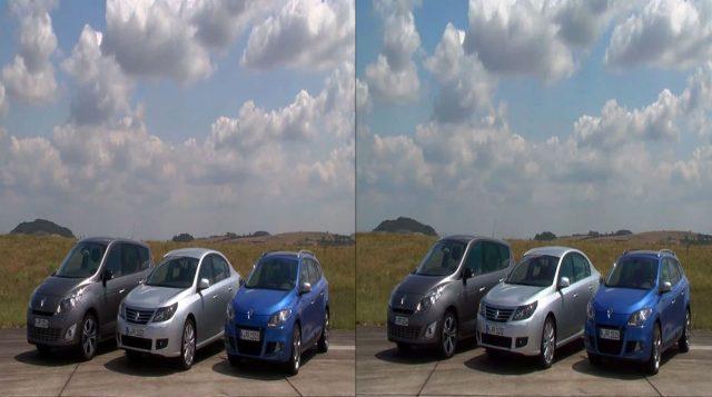 YouTube стерео 3D: французские авто в трёх измерениях