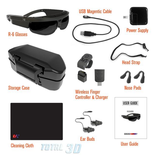 Защищённые умные стерео 3D-очки ODG с поддержкой AR/VR под ReticleOS / Android JB