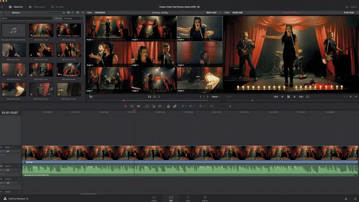 Blackmagic DaVinci Resolve 12: multicam