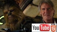 Звёздные Войны: Пробуждение Силы: трёхмерный трейлер на YouTube 3D