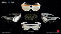 Эксклюзивные 3D-очки RealD к 3D-фильму «Звёздные Войны: Пробуждение Силы»