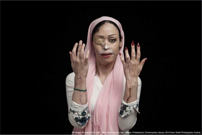 Асгар Хамсех (Asghar Khamseh), автор шокирующей серии портретов «Огонь ненависти»